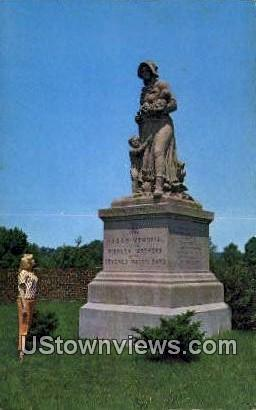 Madonna of the Trail Monument - Springfield, Ohio OH Postcard