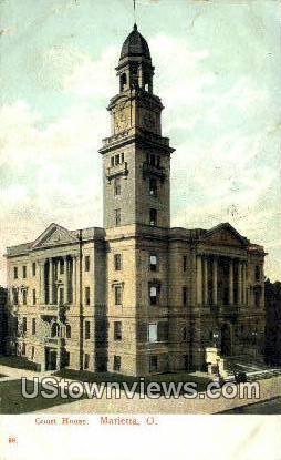 Court House - Marietta, Ohio OH Postcard