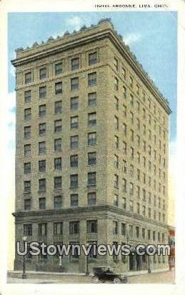 Hotel Argonnie - Lima, Ohio OH Postcard