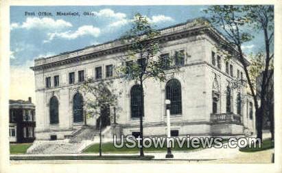 Post Office - Mansfield, Ohio OH Postcard
