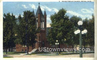 Presbyterian Church - Bryan, Ohio OH Postcard