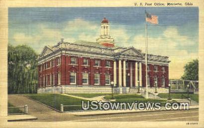 US Post Office - Marietta, Ohio OH Postcard