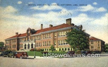 Central High School Bldg - Lima, Ohio OH Postcard