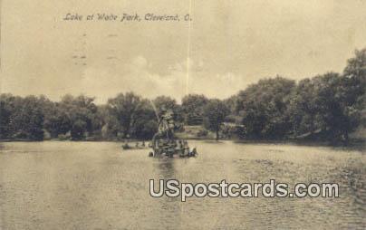 Lake at Wade Park - Cleveland, Ohio OH Postcard