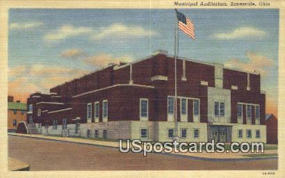 Municipal Auditorium - Zanesville, Ohio OH Postcard