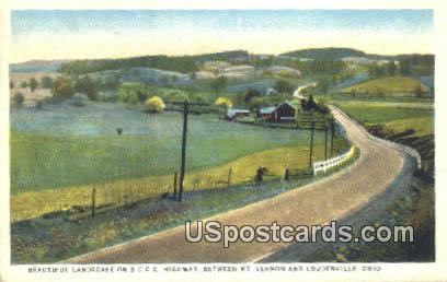 3CCC Highway, Vernon - Loudonville, Ohio OH Postcard