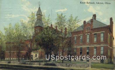 Kent School - Akron, Ohio OH Postcard