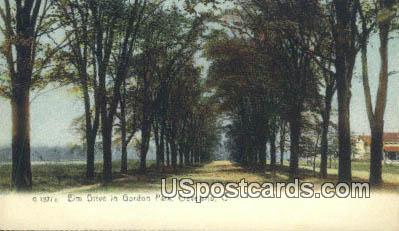 Elm Drive, Gordon Park - Cleveland, Ohio OH Postcard