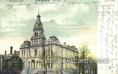 County Court House - Springfield, Ohio OH Postcard
