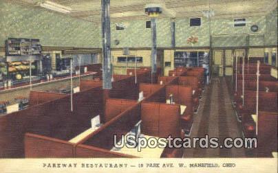 Parkway Restaurant - Mansfield, Ohio OH Postcard