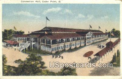 Convention Hall - Cedar Point, Ohio OH Postcard