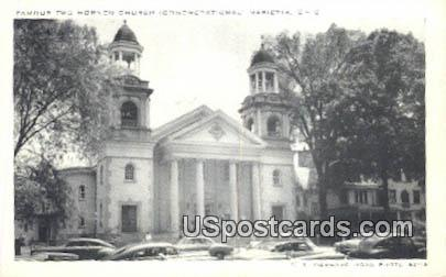 Famous Two Horned Church - Marietta, Ohio OH Postcard