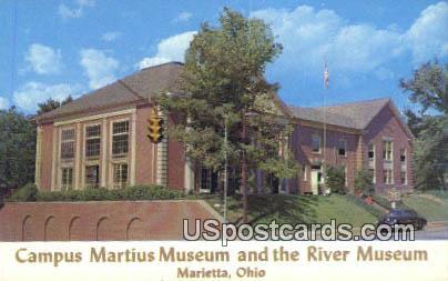 Campus Martius Museum & the River Museum - Marietta, Ohio OH Postcard