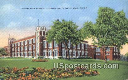 South High School - Lima, Ohio OH Postcard