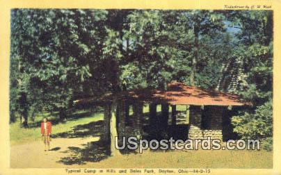 Camp, Dales Park - Dayton, Ohio OH Postcard