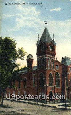 ME Church - Mt. Vernon, Ohio OH Postcard