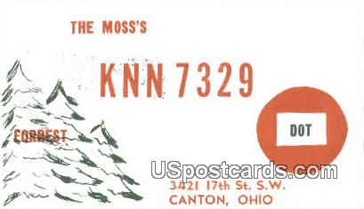 The Moss's - Canton, Ohio OH Postcard