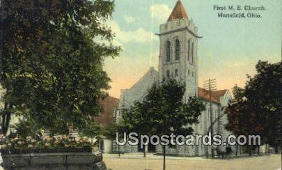 First ME Church - Mansfield, Ohio OH Postcard