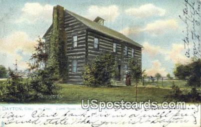 Log Cabin, 1796 - Dayton, Ohio OH Postcard