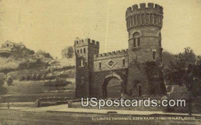 Elsinore Entrance Eden Park - Cincinnati, Ohio OH Postcard