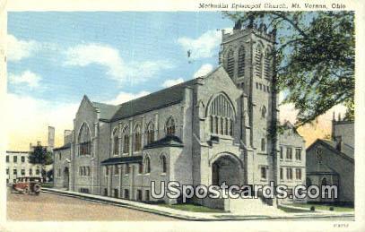 Methodist Episcopal Church - Mt. Vernon, Ohio OH Postcard