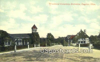 Woodland Cemetery - Dayton, Ohio OH Postcard