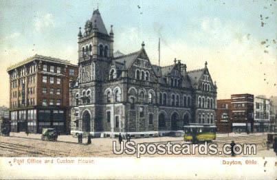 Post Office & Custom House - Dayton, Ohio OH Postcard