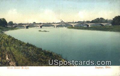 Third Street Bridge - Dayton, Ohio OH Postcard