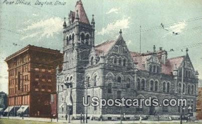 Post Office - Dayton, Ohio OH Postcard