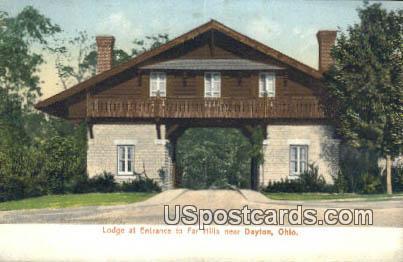 Lodge, Far Hills - Dayton, Ohio OH Postcard