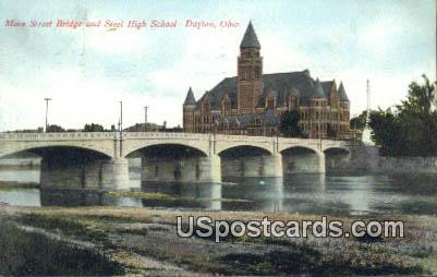 Main Street Bridge - Dayton, Ohio OH Postcard