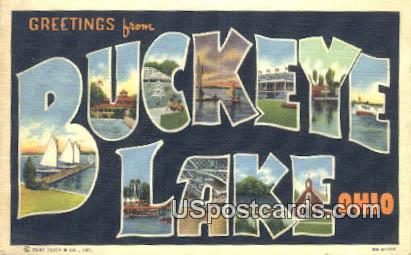 Buckeye Lake, Ohio Postcard      ;      Buckeye Lake, OH