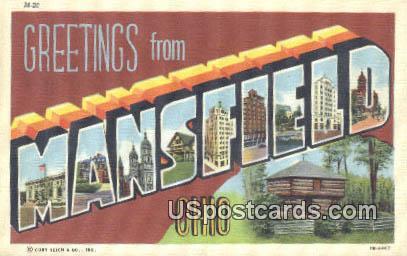 Mansfield, OH Postcard      ;      Mansfield, Ohio