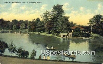 Lake, Brookside Park - Cleveland, Ohio OH Postcard