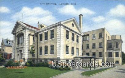 City Hospital - Alliance, Ohio OH Postcard