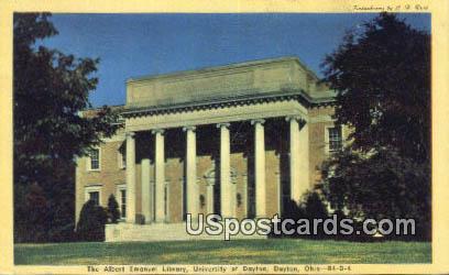 Albert Emanuel Library, University of Dayton - Ohio OH Postcard
