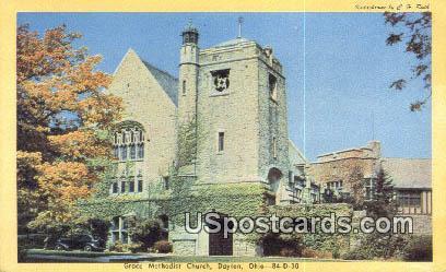 Grace Methodist Church - Dayton, Ohio OH Postcard