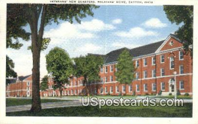 Veterans New Quarters, Soldiers Home - Dayton, Ohio OH Postcard