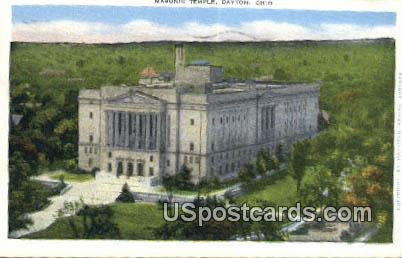 Masonic Temple - Dayton, Ohio OH Postcard