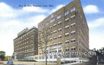 New St Rita Hospital - Lima, Ohio OH Postcard