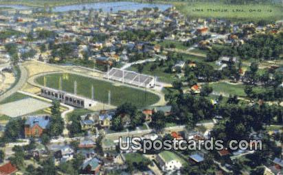 Lima Stadium - Ohio OH Postcard