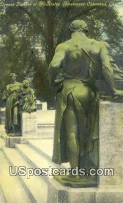 Bronze Figures, McKinley Monument - Columbus, Ohio OH Postcard