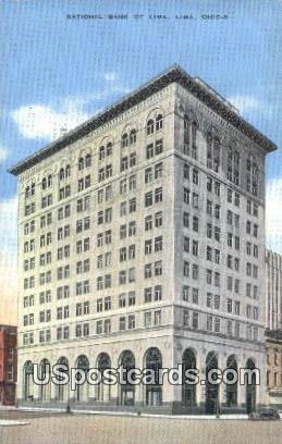 National Bank of Lima - Ohio OH Postcard