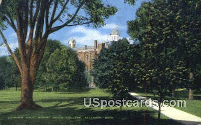 Chapman Hall, Mount Union College - Alliance, Ohio OH Postcard