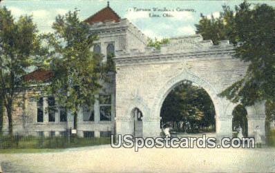 Woodlawn Cemetery - Lima, Ohio OH Postcard