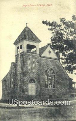 Baptist Church - Forest, Ohio OH Postcard