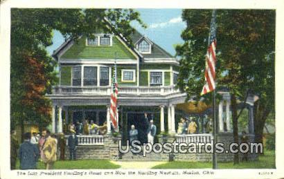 Late President Harding's Home, Harding Museum - Marion, Ohio OH Postcard