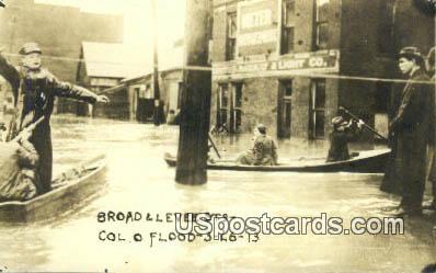 Broad & Levee Streets Col O Flood 3-26-13 - Columbus, Ohio OH Postcard