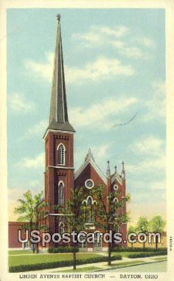Linden Avenue Baptist Church - Dayton, Ohio OH Postcard