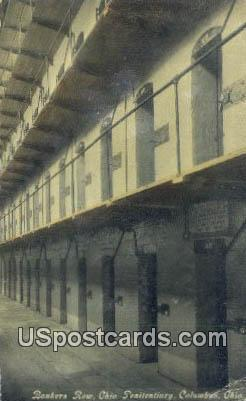 Bankers Row, Ohio Penitentiary - Columbus Postcard